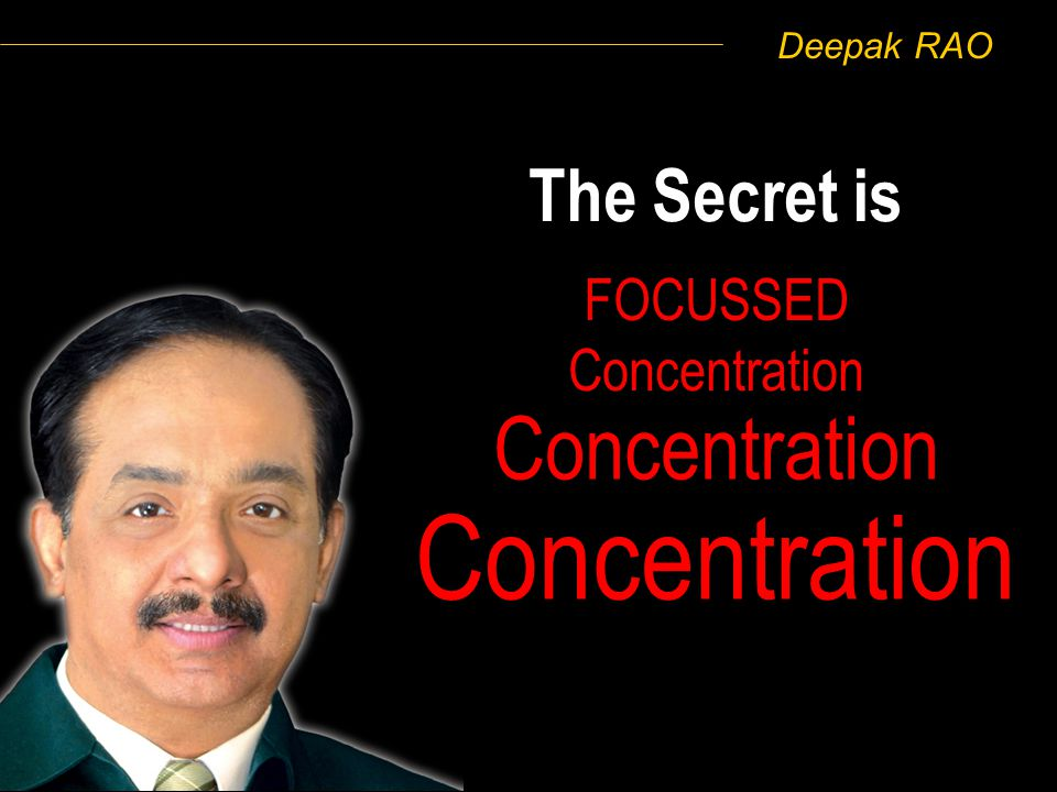 Deepak RAO Do you want MORE Mind Experiments and Techniques of Improving Focussed Concentration ?