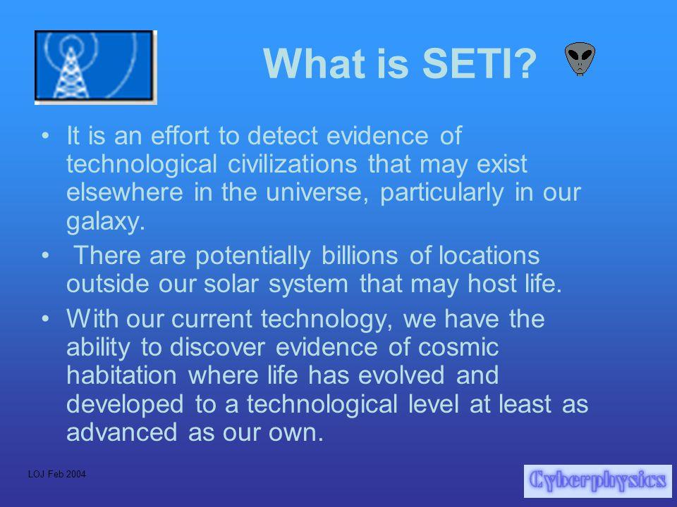 LOJ Feb 2004 What is SETI.
