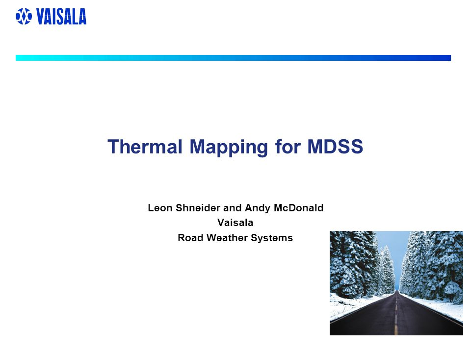 Thermal Mapping Across a highway network in winter some sections will be warmer or colder than others Thermal Mapping identifies where these warm and cold sections are going to occur Road pavement temperature data are collected automatically every 5 under a range of different weather types