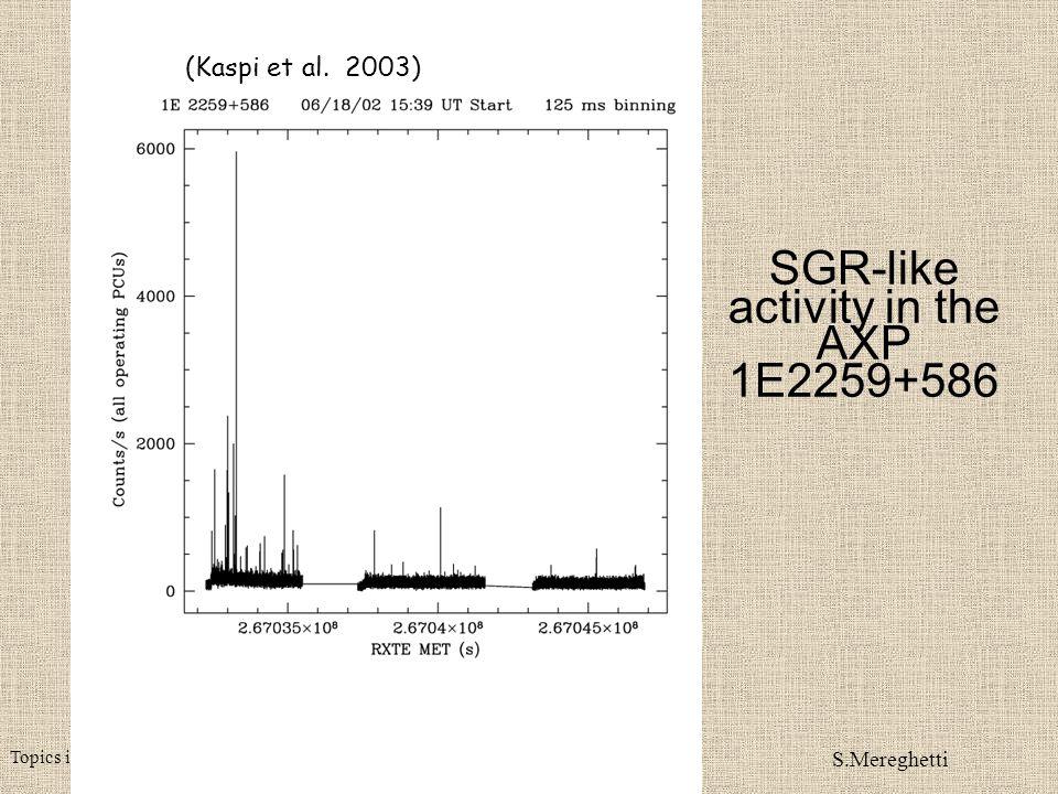 Topics in X-ray astronomy - Tuebingen February 2004 S.Mereghetti AXP