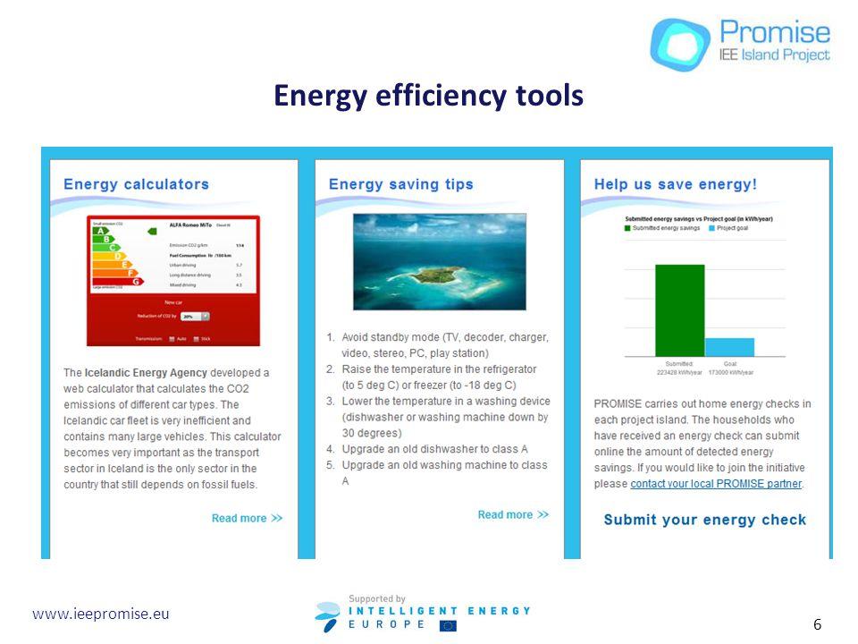 Energy efficiency tools www.ieepromise.eu 6
