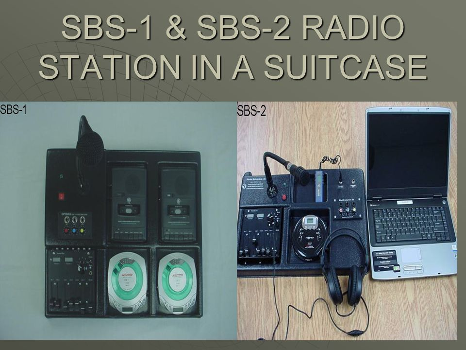 SBS-1 & SBS-2 RADIO STATION IN A SUITCASE