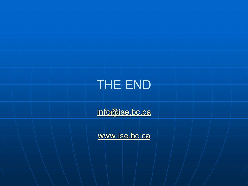 THE END info@ise.bc.ca www.ise.bc.ca