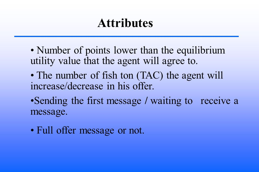 Attributes Number of points lower than the equilibrium utility value that the agent will agree to.
