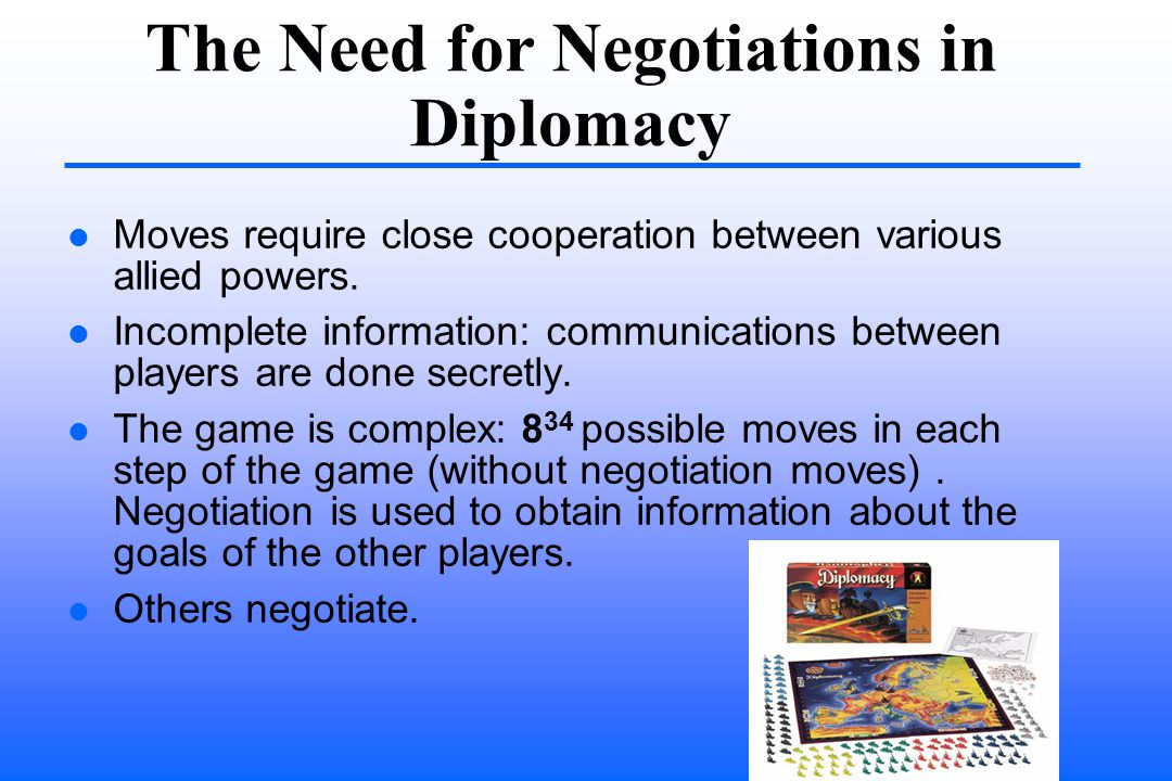 The Need for Negotiations in Diplomacy Moves require close cooperation between various allied powers.