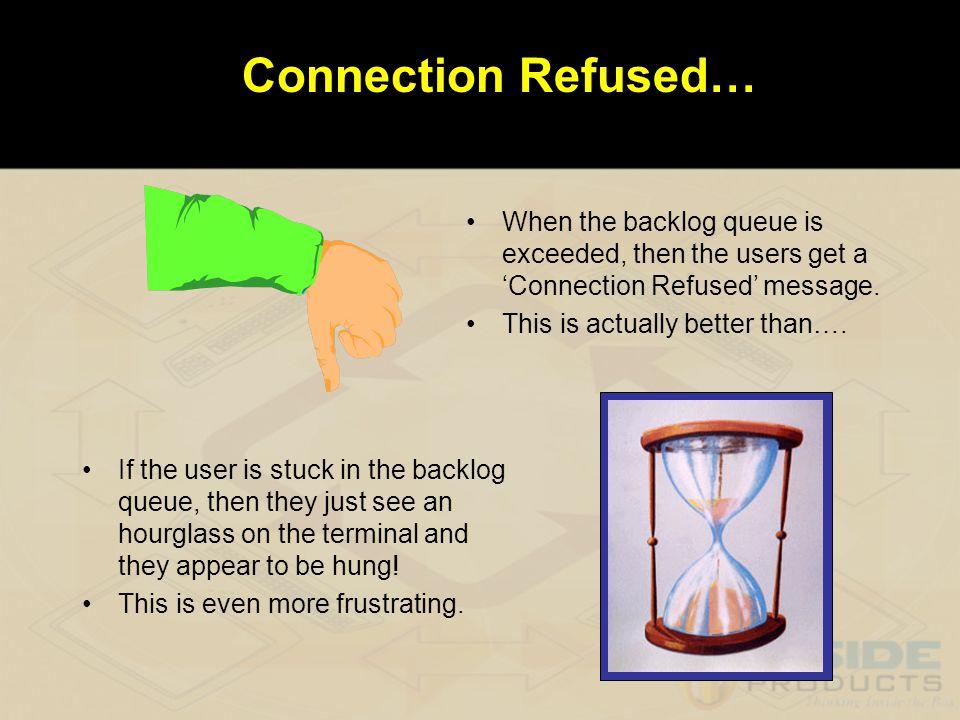 Backlog Queues We looked at the application backlog queues.