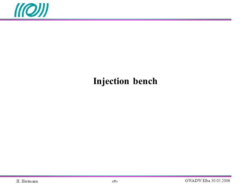 10 GWADW Elba 30.05.2006 Injection bench