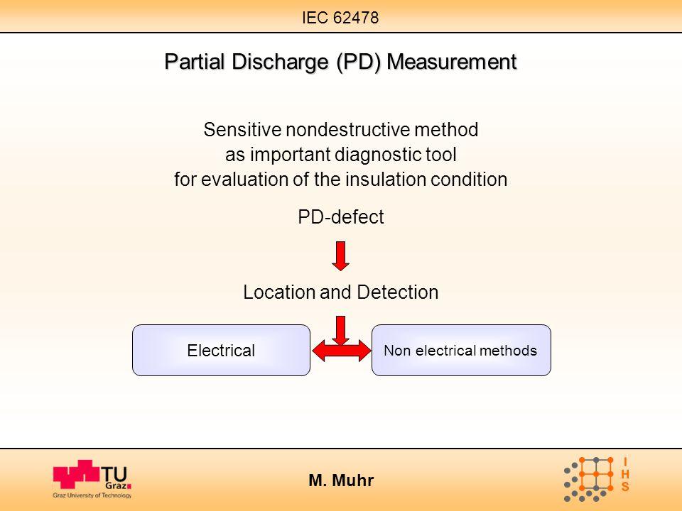 IEC 62478 M. Muhr Partial Discharge (PD) Measurement Sensitive nondestructive method as important diagnostic tool for evaluation of the insulation con