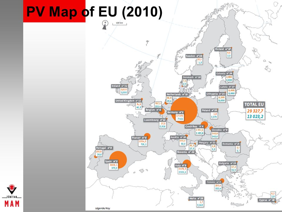 PV Map of EU (2010)