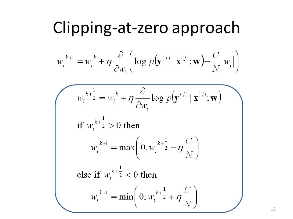 Clipping-at-zero approach 12