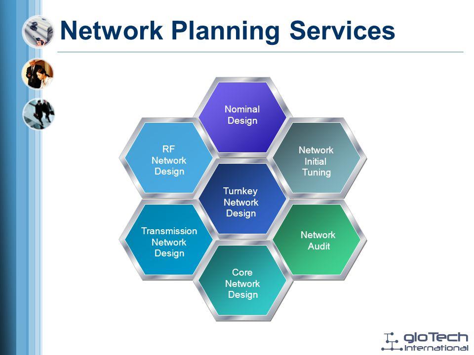 Network Planning Services Nominal Design RF Network Design Turnkey Network Design Network Initial Tuning Network Audit Transmission Network Design Core Network Design