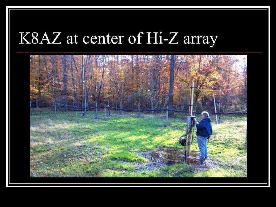 K8AZ at center of Hi-Z array