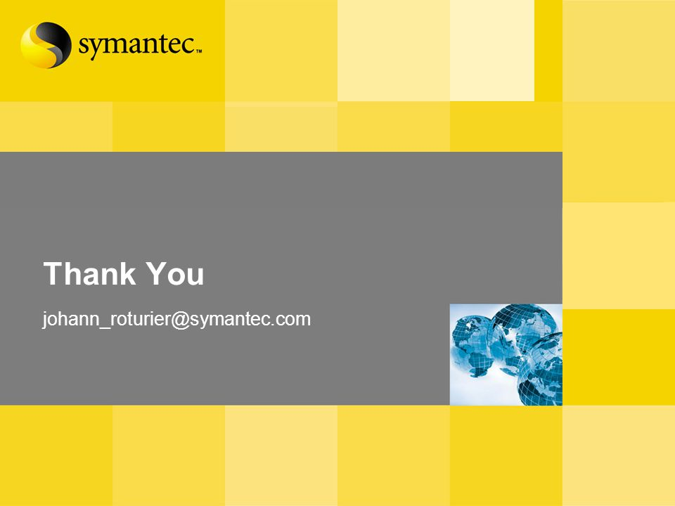 Thank You johann_roturier@symantec.com