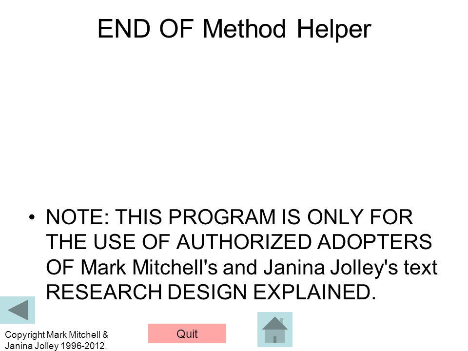 Quit Copyright Mark Mitchell & Janina Jolley 1996-2012.