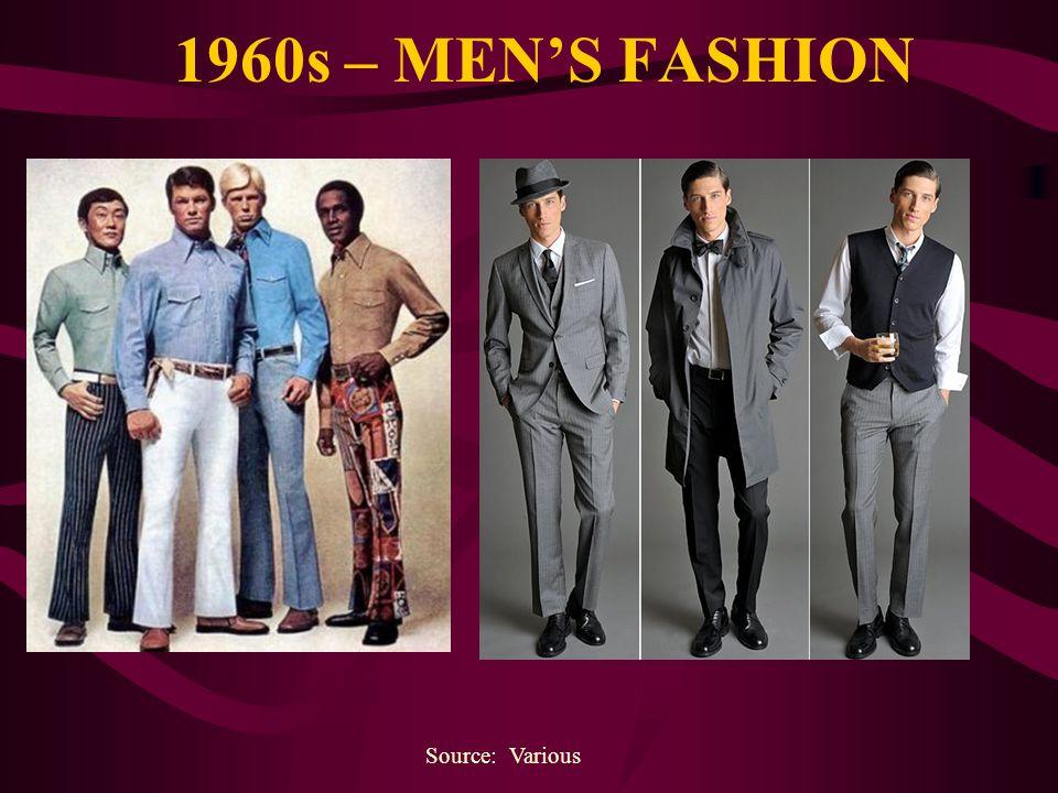 1960s – MENS FASHION Source: Various