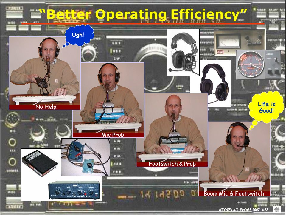 K2YWE Little Pistol 6-2007 - p21 My Experience Operating Practices  Better exploited software features (Bandmap, SCP, …)  Discovered and incremental