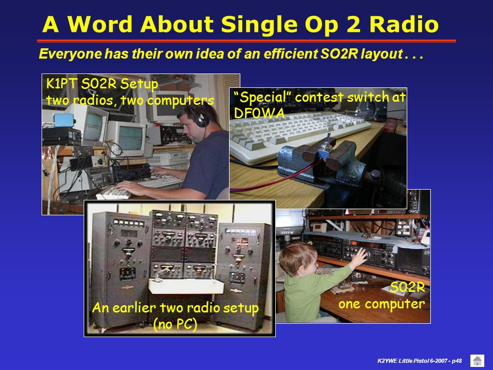 K2YWE Little Pistol 6-2007 - p47 more Best Practices... Running - continued If another station calls CQ on your frequency, try