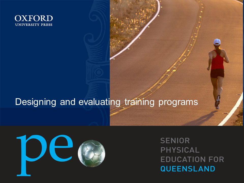 Designing and evaluating training programs