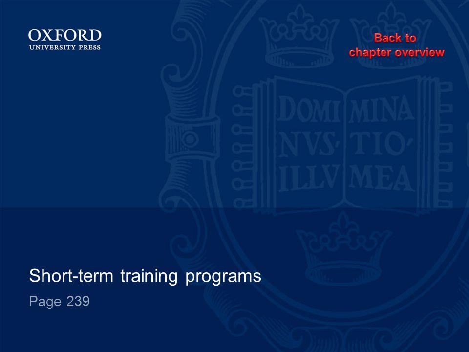 Short-term training programs Page 239
