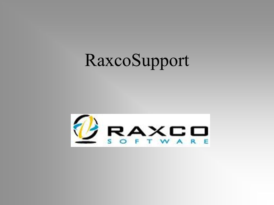 RaxcoSupport