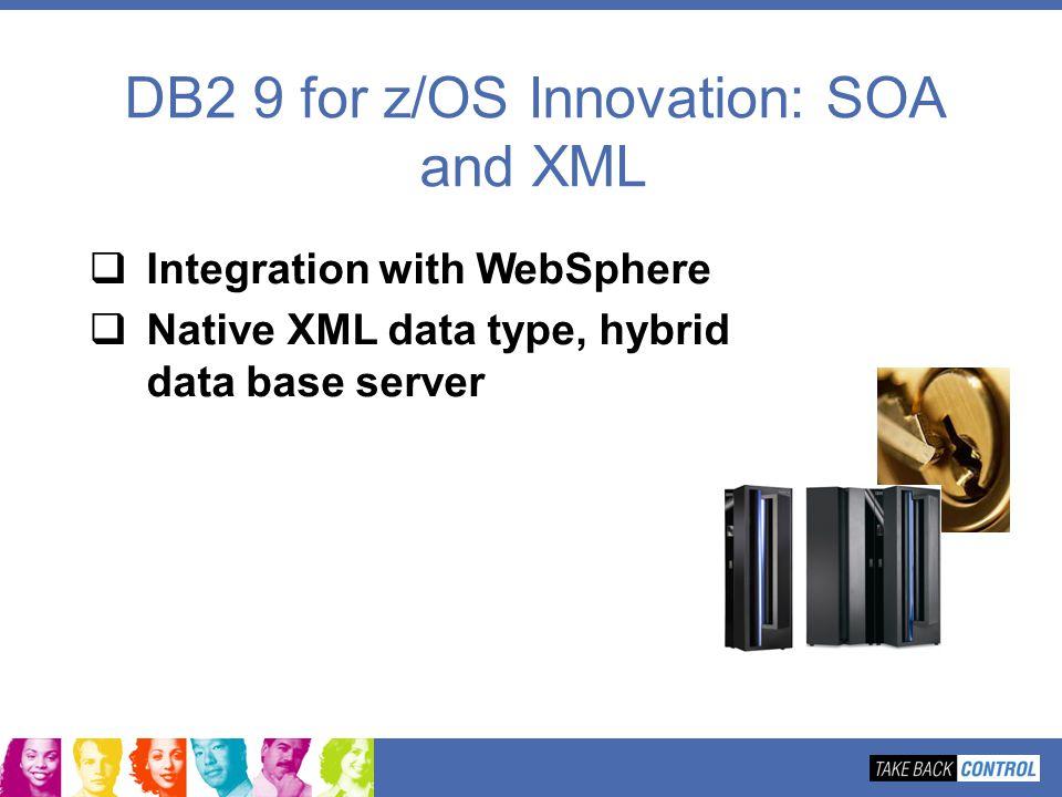 DB2 9 for z/OS Innovation: SOA and XML Integration with WebSphere Native XML data type, hybrid data base server