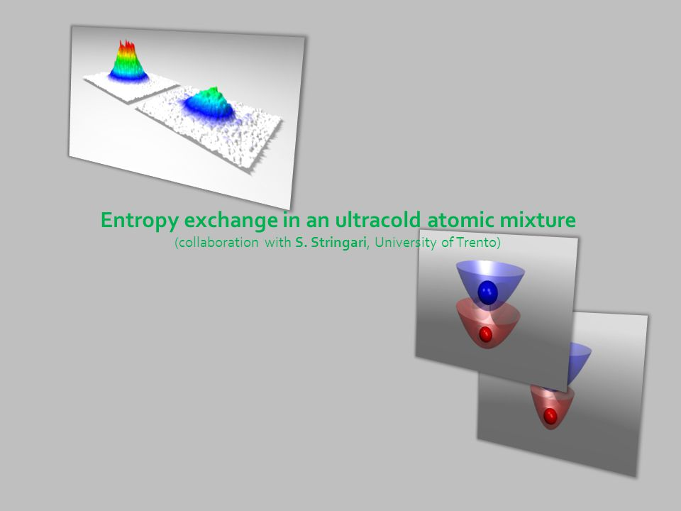 Entropy exchange in an ultracold atomic mixture (collaboration with S. Stringari, University of Trento)
