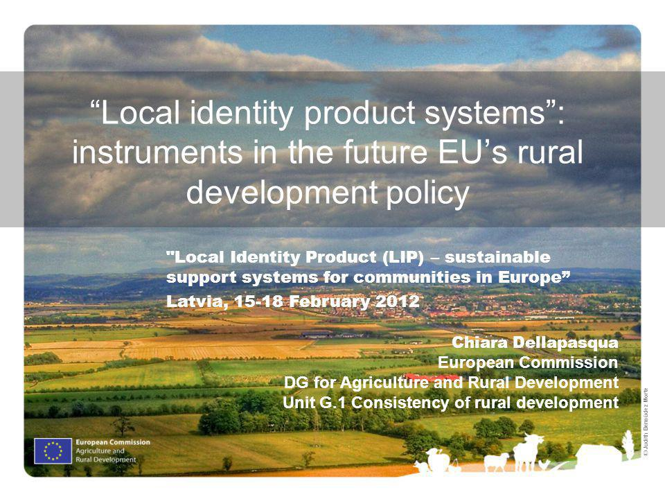 2 1.The EUs rural development policy: a new framework 2.Focus: the EUs rural development policy approach to foster food chain organisation and local development 3.Overview of key measures and networking