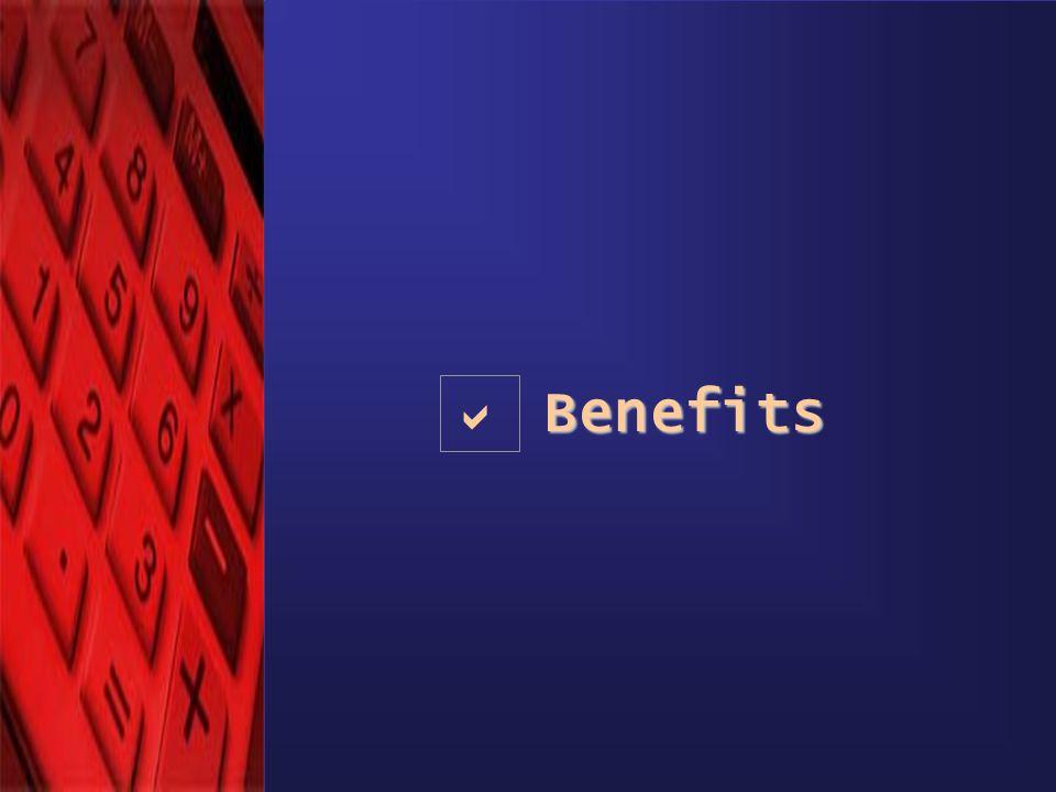 © eComScience Pvt. Ltd. 2001 Benefits