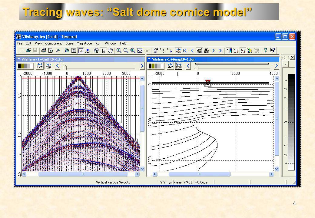 4 Tracing waves: Salt dome cornice model