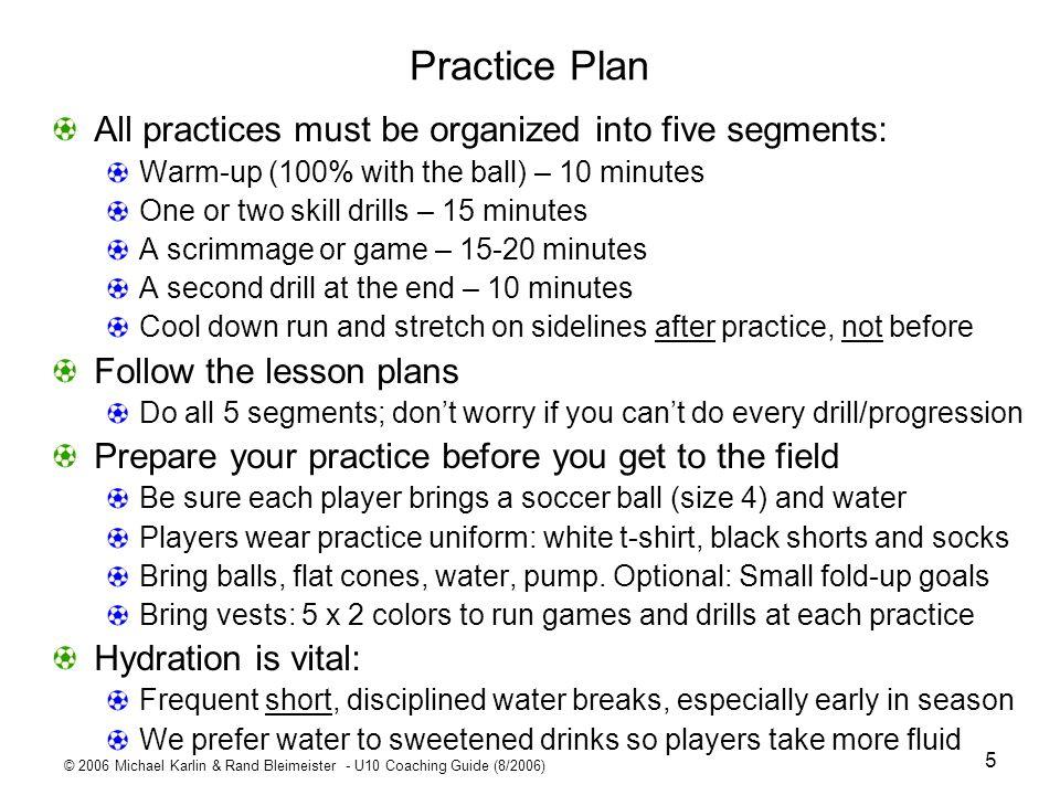 © 2006 Michael Karlin & Rand Bleimeister - U10 Coaching Guide (8/2006) 26 Theme: DEFENSE.