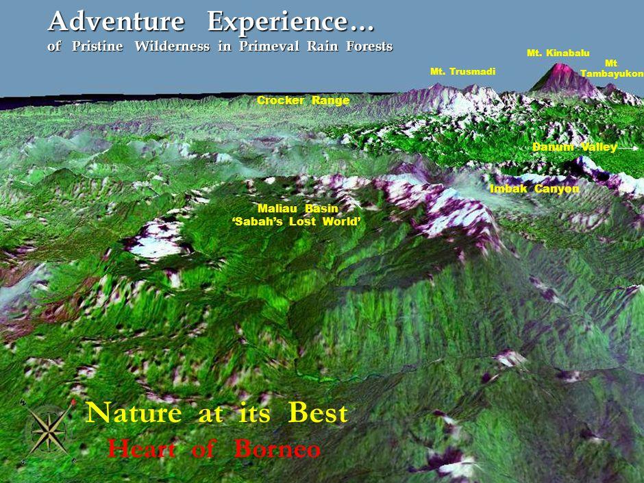Mt.Kinabalu Mt. Tambayukon Mt.