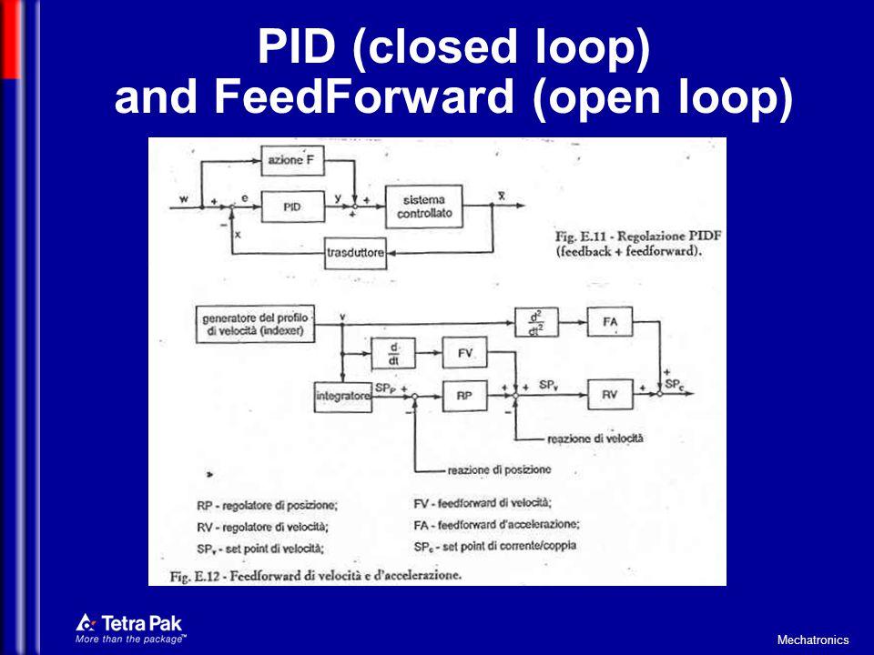 Mechatronics PID (closed loop) and FeedForward (open loop)