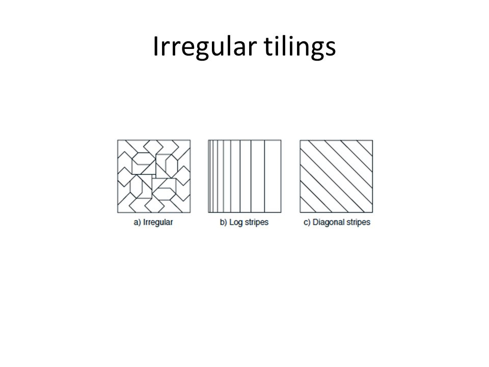 Irregular tilings