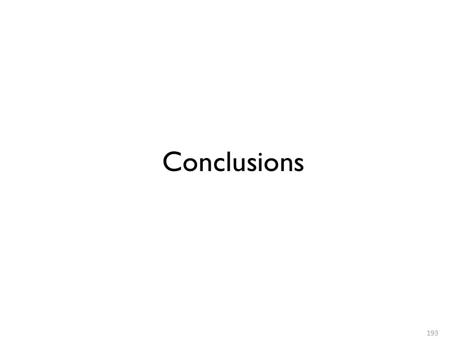 Conclusions 193