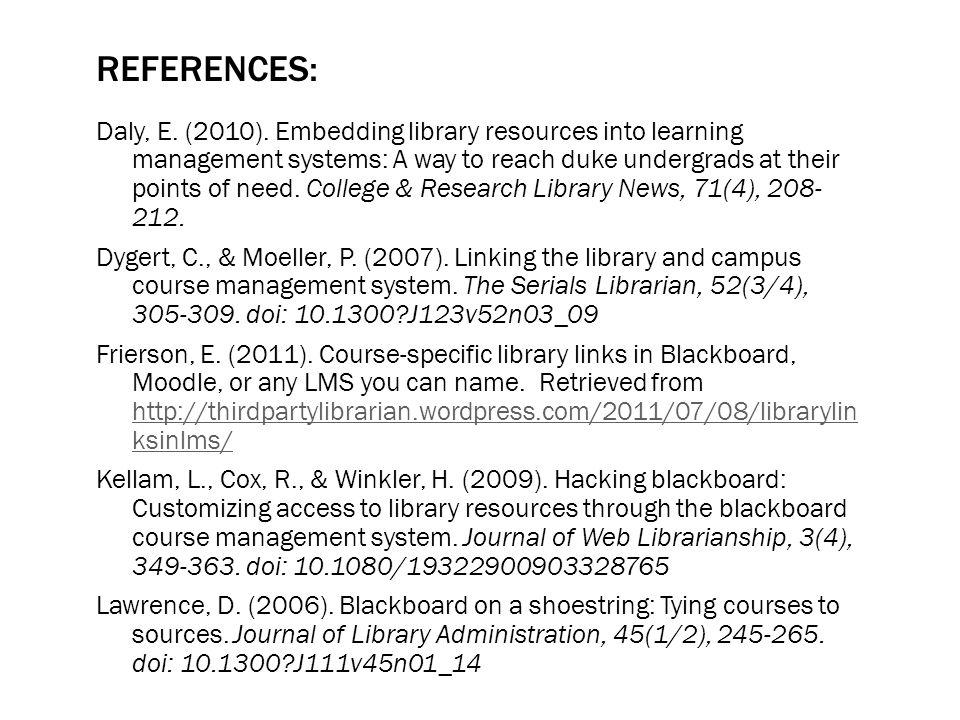 REFERENCES: Daly, E. (2010).