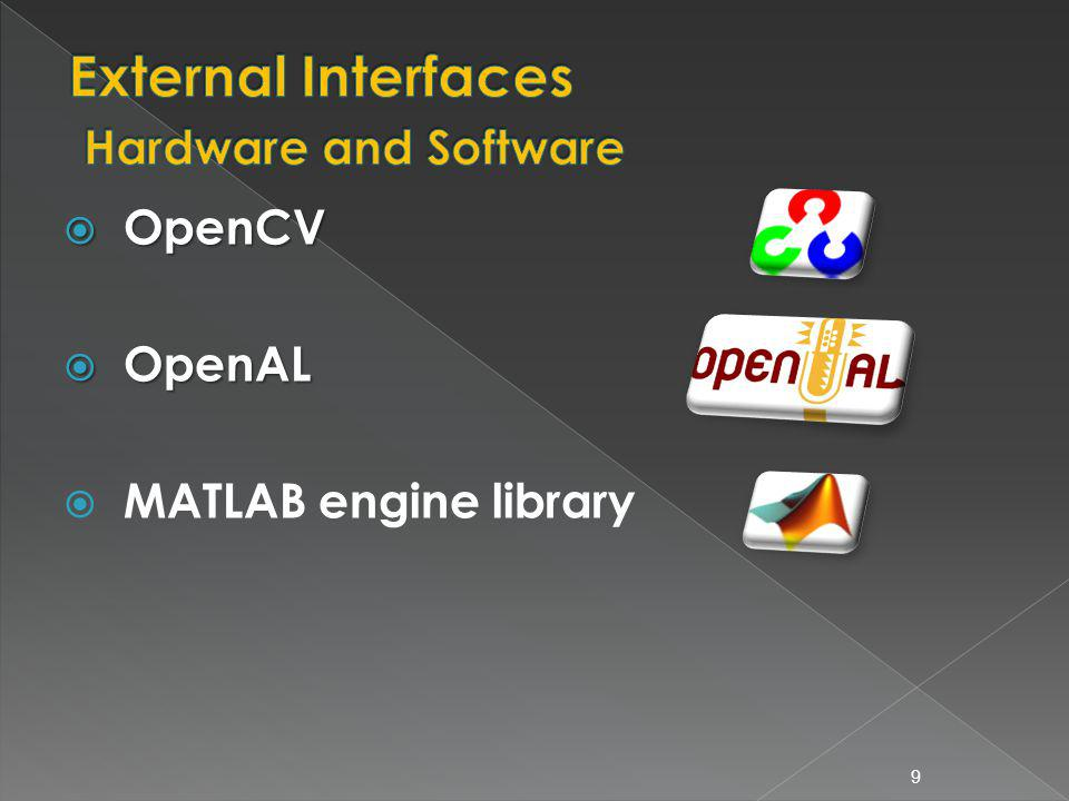 OpenCV OpenCV OpenAL OpenAL MATLAB engine library 9