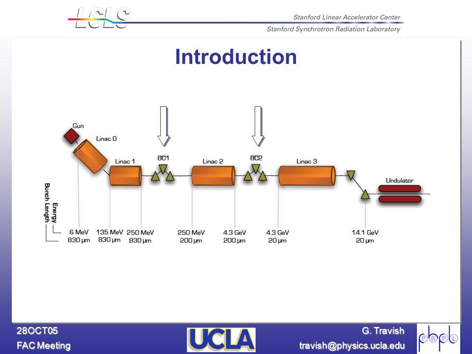 G. Travish FAC Meeting travish@physics.ucla.edu 28OCT05 Introduction