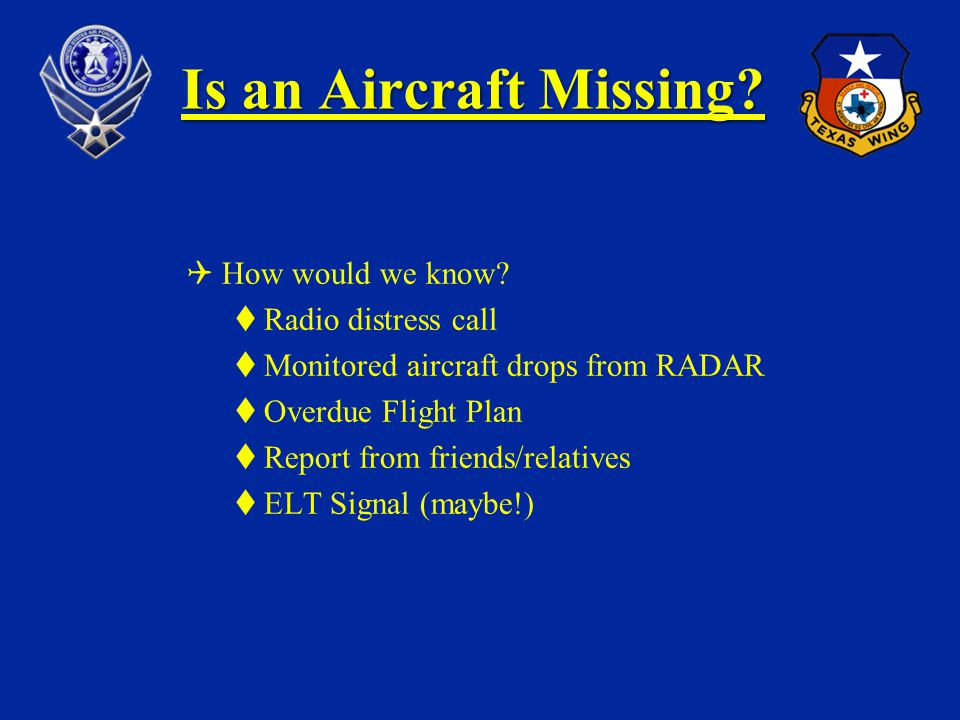How does CAP Search for Missing Aircraft.