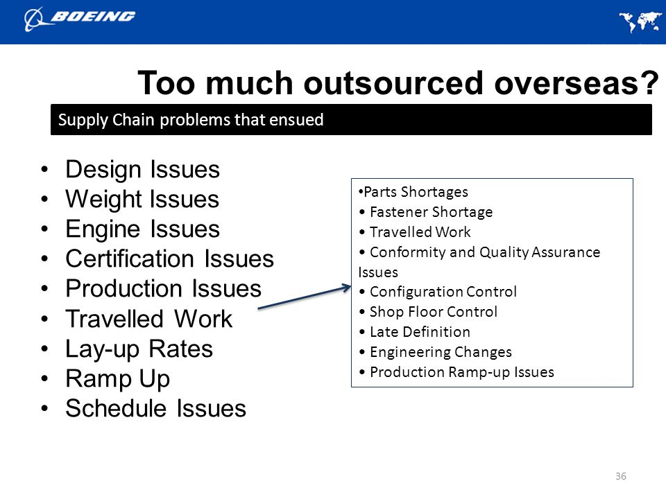 Too much outsourced overseas.