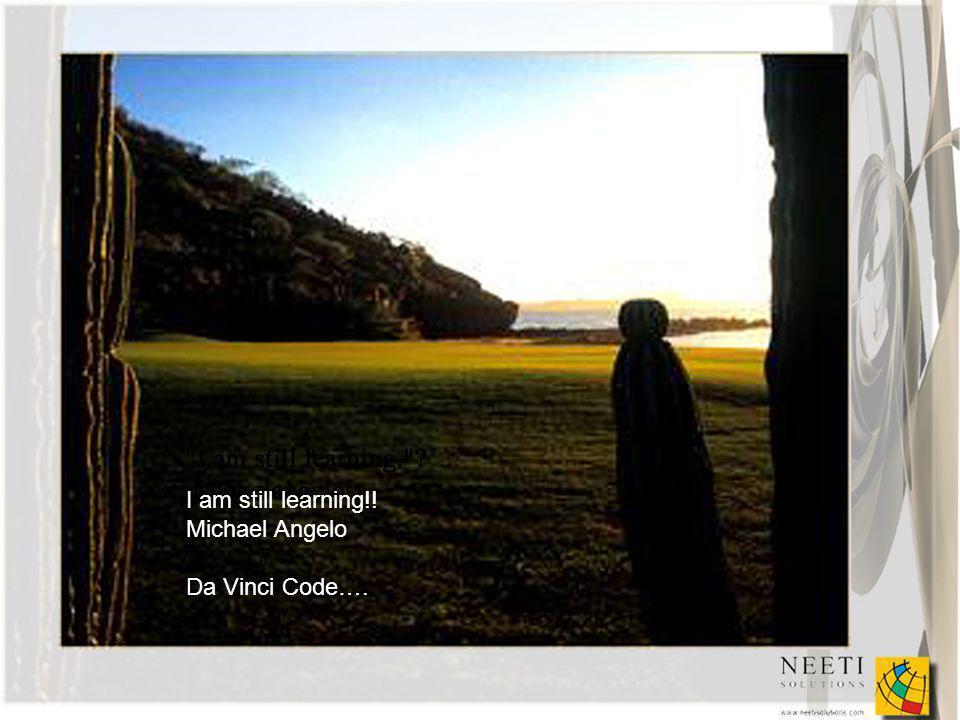 I am still learning!! Michael Angelo Da Vinci Code….