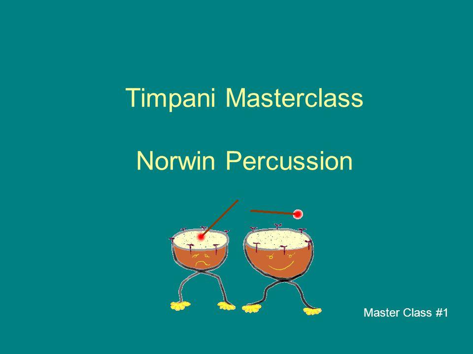Timpani Masterclass Norwin Percussion Master Class #1
