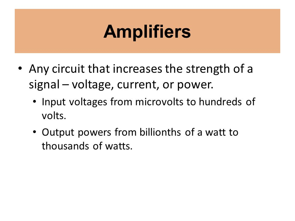 Amplifiers Distortion and Intermodulation.Distortion Non-linearity results in distortion.