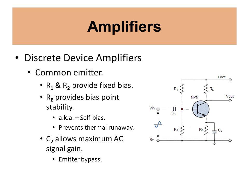 Amplifiers Discrete Device Amplifiers Common base.
