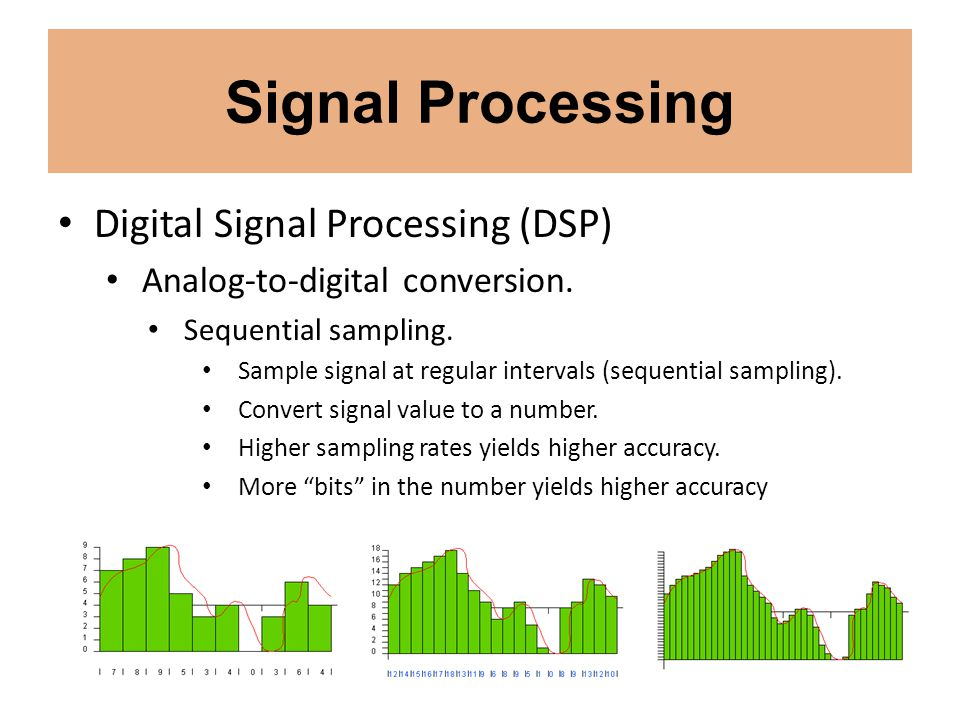 Signal Processing Digital Signal Processing (DSP) Analog-to-digital conversion. Sequential sampling. Sample signal at regular intervals (sequential sa