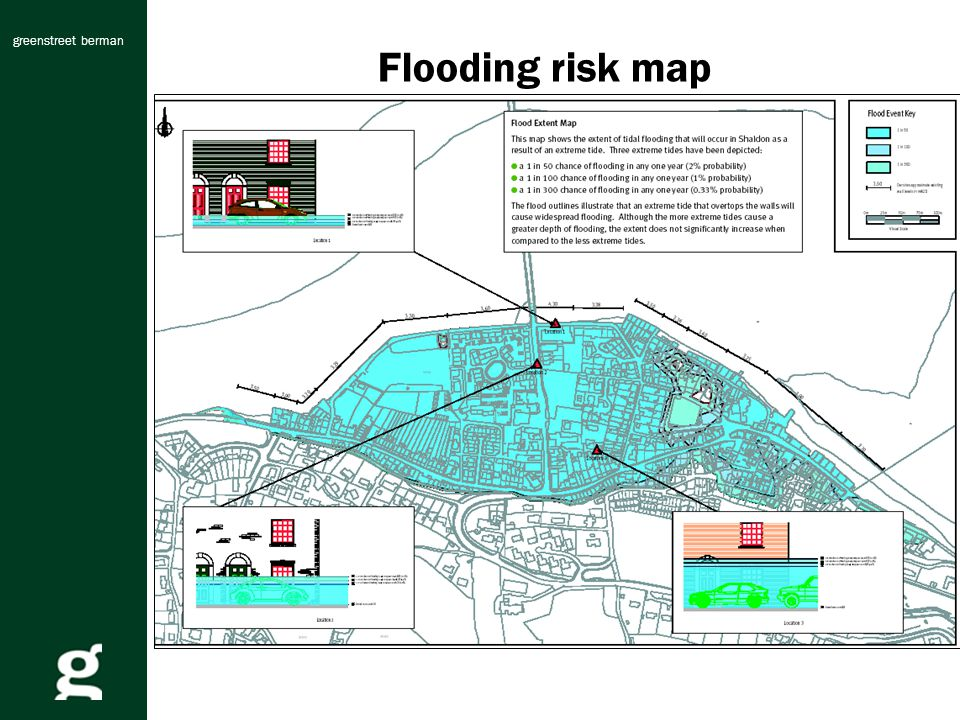 greenstreet berman Flooding risk map