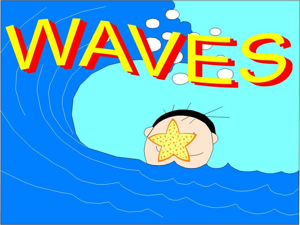 Transverse Waves The stadium wave travels all around the stadium.