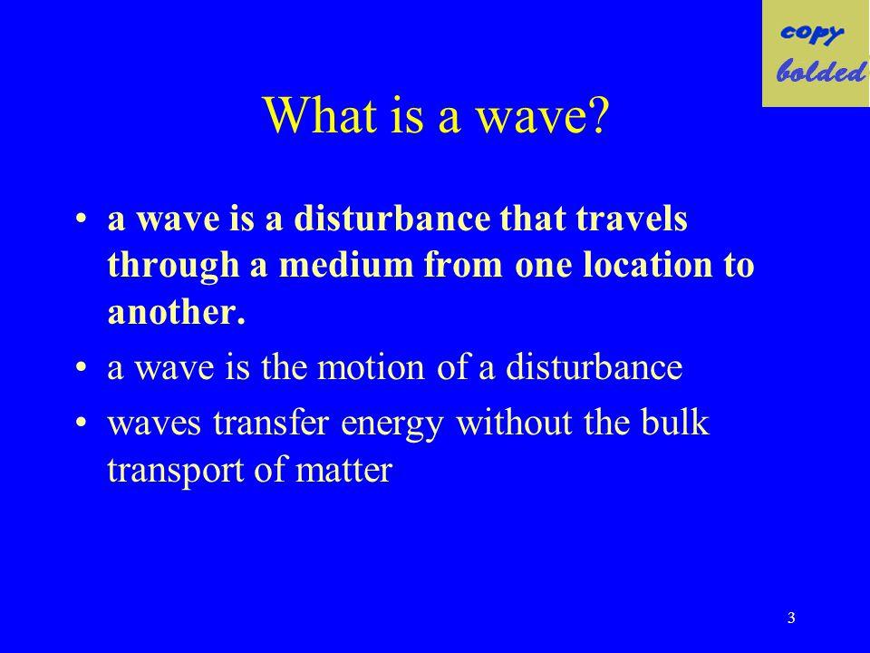 Assignment: Wave Characteristics