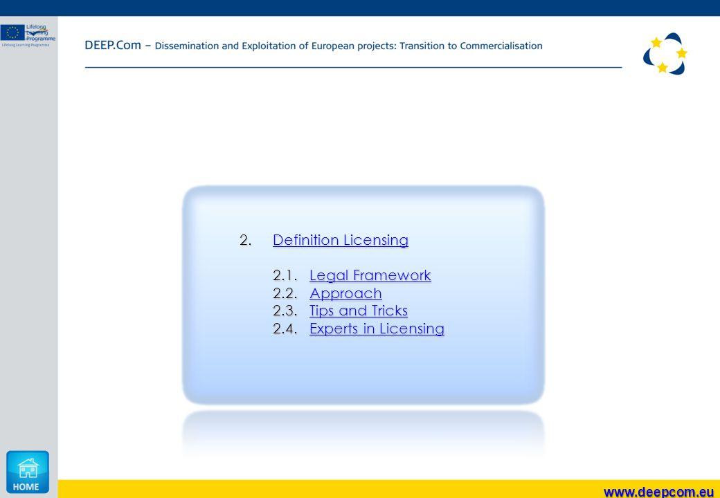 2.Definition Licensing Definition LicensingDefinition Licensing 2.1.