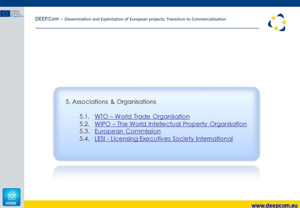 5. Associations & Organisations 5.1.