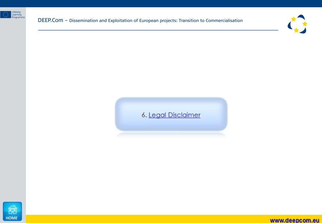 6. Legal Disclaimer Legal DisclaimerLegal Disclaimer